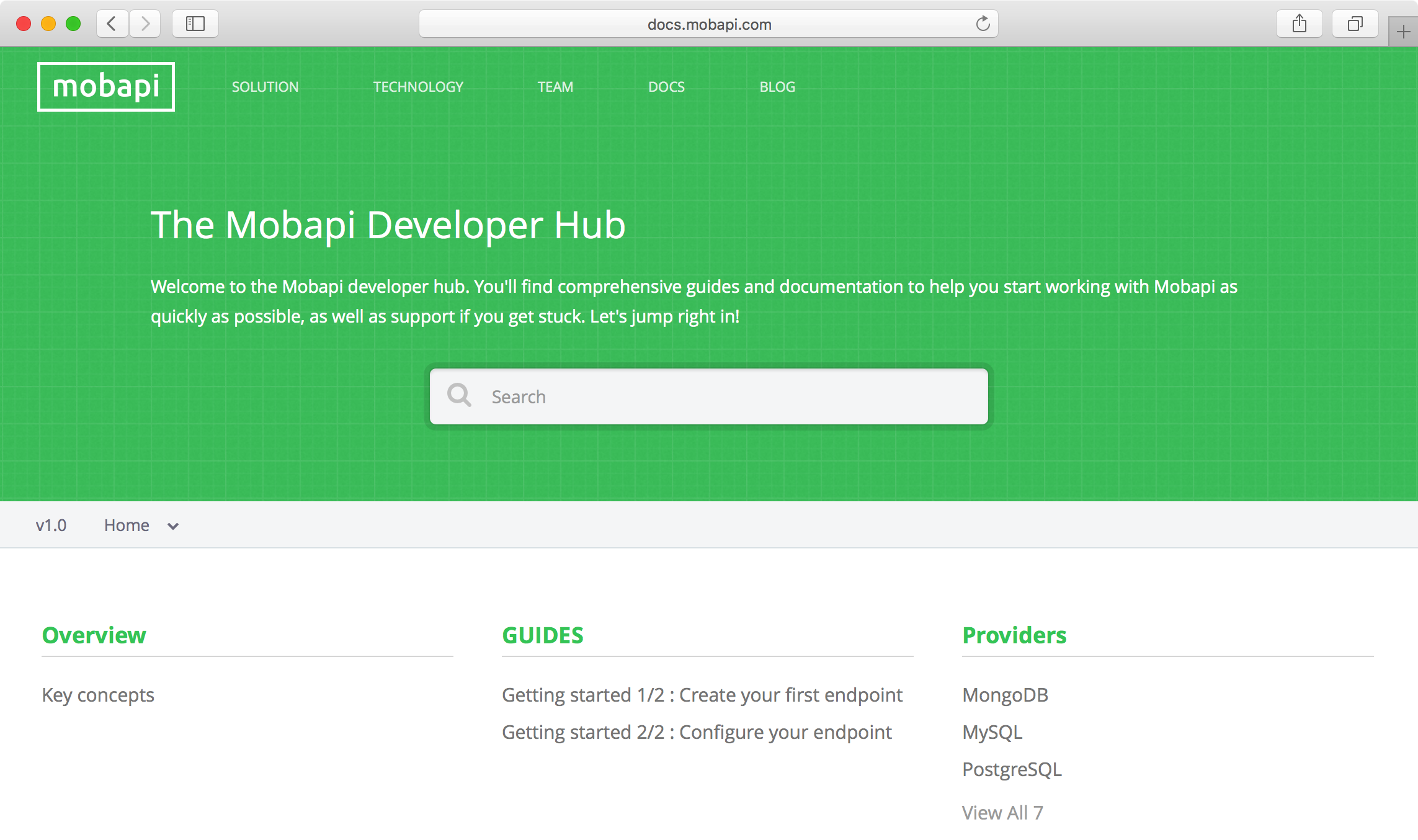 Mobapi Developer Hub